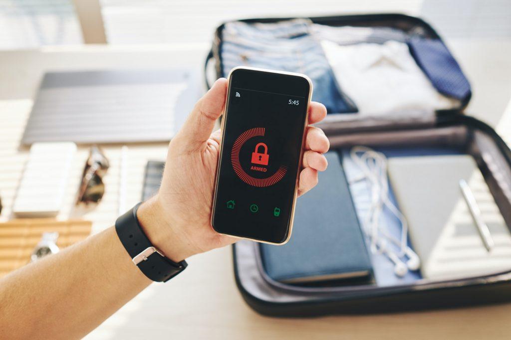 Password-protected smartphone